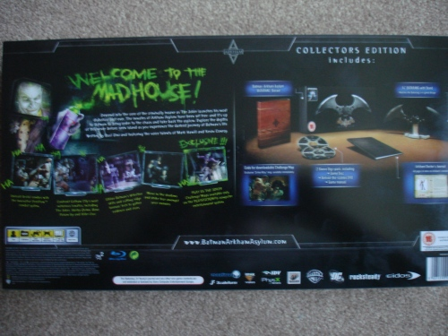 View of the Collector's Edition from the back