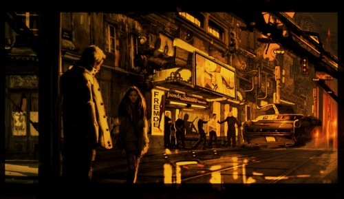 The recently released concept art for Duncan's next film, Mute, has a definite Blade Runner style tone to it.