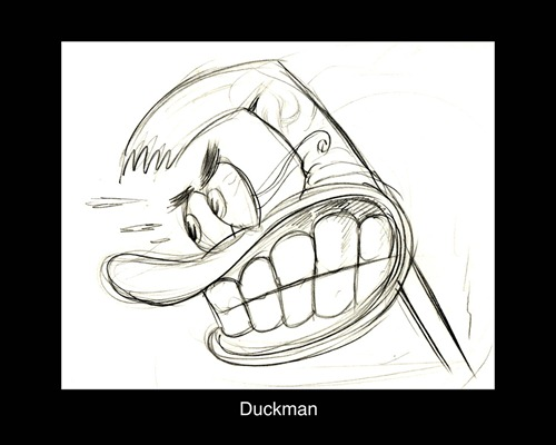 DUCKMAN EARLY MODEL SKETCH