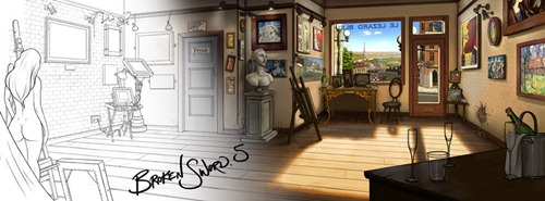 Broken Sword 5 Artwork