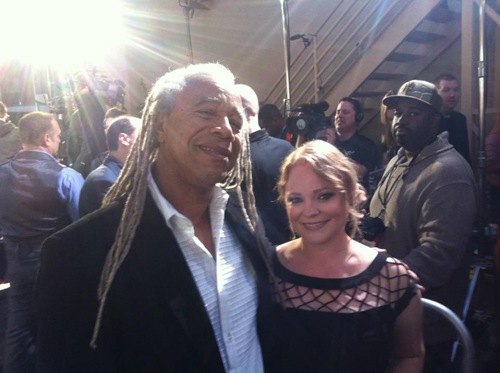 Dave Fennoy and Melissa Hutchison