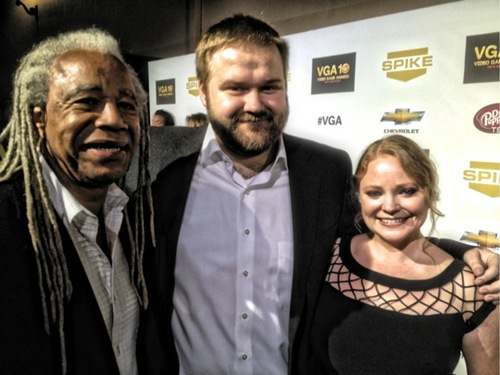 Dave Fennoy, Robert Kirkman and Melissa Hutchison