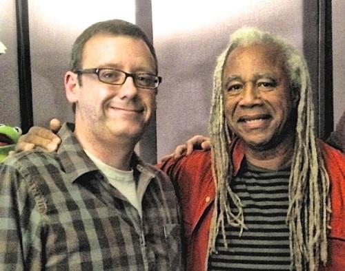 Dave Fennoy with writer Gary Whitta