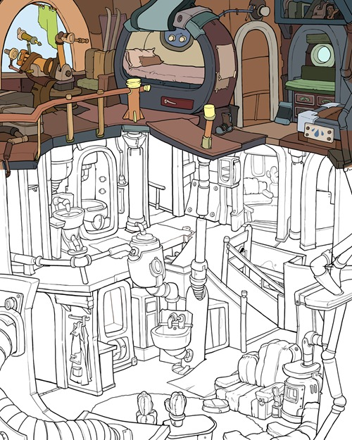Deponia_Tonis_Haus_entstehung