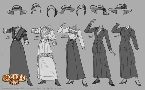 BioShock Infinite Clothing Artwork