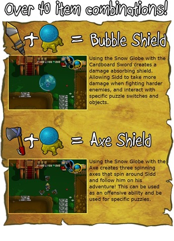 Item Combinations - Sword 'N' Board