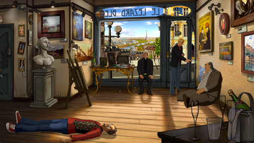 Broken Sword 5 - George spraying Laine