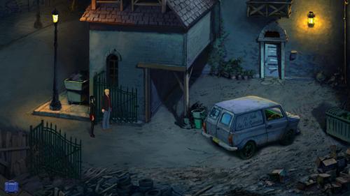 Broken Sword 5 - Hobbs' Yard at Night
