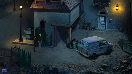 Broken Sword 5 - Hobbs' Yard at Night