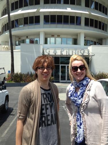 Me and Honda-san before recording in LA at Capital studios