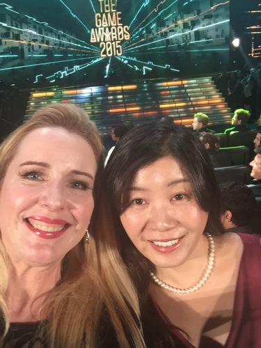 Nobuko and me at The Game Awards 2015 before we won!